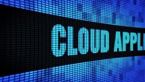 Wolken-Anwendungs-Seite simsen das In einer Liste verzeichnen des LED-Wand-Anzeigetafel-Zeichen-Brettes stock video footage