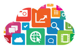 Wolken-APP Lizenzfreies Stockfoto
