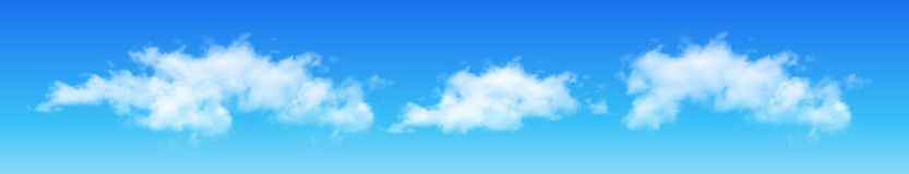 Wolken auf blauem Himmel, vektor abbildung