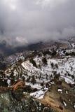 Wolken auf dem Berg Stockbilder
