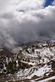 Wolken auf dem Berg Lizenzfreies Stockfoto