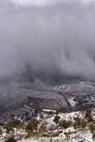 Wolken auf dem Berg Lizenzfreies Stockbild