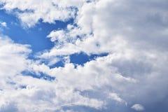 Wolken auf der schönen Stelle stockbilder