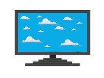 Wolken auf Fernsehbildschirm Stockfotos