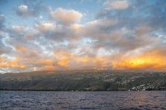 Wolken auf Feuer Lizenzfreies Stockfoto