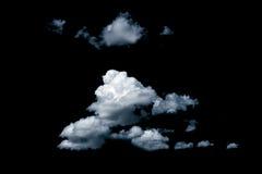 Wolken auf schwarzem Hintergrund Stockbild