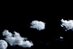 Wolken auf schwarzem Hintergrund Stockbilder
