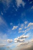 Wolken, avond, kleur Stock Afbeeldingen
