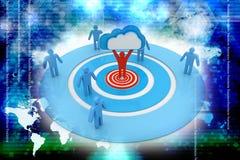 Wolken bedrijfsnetwerk Stock Afbeelding
