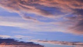 Wolken bij dageraad stock footage