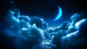 Wolken bij nacht Stock Afbeelding