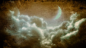 Wolken bij nacht royalty-vrije illustratie