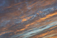 Wolken bij zonsondergang Royalty-vrije Stock Foto