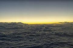 Wolken bij zonsondergang Stock Foto