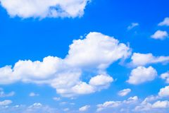 Wolken in Blauwe Hemel 171022 0076 Royalty-vrije Stock Afbeelding
