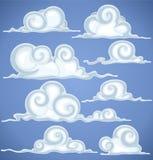 Wolken in blauwe hemel stock illustratie