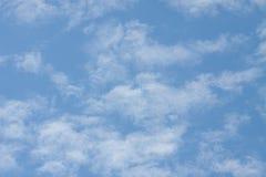 Wolken in Blauwe Hemelsamenvatting Als achtergrond Royalty-vrije Stock Afbeelding