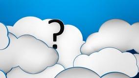 Wolken blauwe vraag als achtergrond Stock Foto