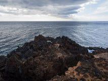 Wolken boven de Atlantische Oceaan Stock Foto's