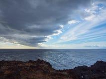 Wolken boven de Atlantische Oceaan Royalty-vrije Stock Fotografie