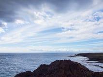 Wolken boven de Atlantische Oceaan Royalty-vrije Stock Foto's