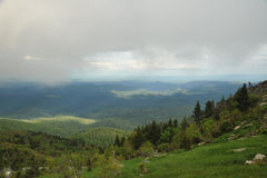 Wolken boven de bergen in Noord-Carolina Royalty-vrije Stock Foto