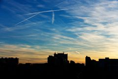 Wolken boven Praag Stock Foto