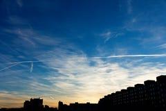Wolken boven Praag Stock Afbeeldingen