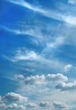 Wolken boven stad Royalty-vrije Stock Afbeelding