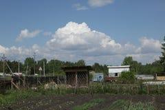 Wolken in buurt Royalty-vrije Stock Foto's