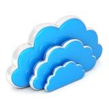 Wolken in 3d op wit Royalty-vrije Stock Afbeelding