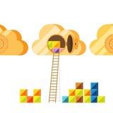 Wolken-Daten-Wölbungs-Zugang Lizenzfreie Stockfotografie