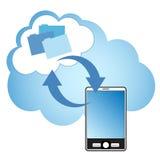 Wolken-Datenverarbeitung Stockbild