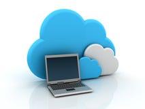 Wolken-Datenverarbeitung lizenzfreie abbildung