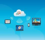 Wolken-Datenverarbeitungskonzept Stockfotos