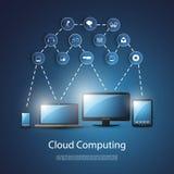 Wolken-Datenverarbeitungskonzept lizenzfreie abbildung