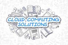 Wolken-Datenverarbeitungslösungen - Geschäfts-Konzept Lizenzfreies Stockbild