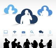 Wolken-Datenverarbeitungsvektor Stockfotografie