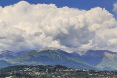 Wolken in de Alpen Stock Afbeelding