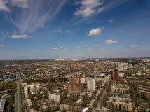 Wolken in de blauwe hemel Lucht Mening Stock Foto