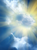 Wolken in de hemel royalty-vrije stock foto