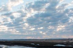 Wolken in de hemel Wolken in de hemel Ook is de blauwe hemel heel wat wolken Stock Foto