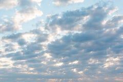 Wolken in de hemel Wolken in de hemel Ook is de blauwe hemel heel wat wolken Royalty-vrije Stock Foto's