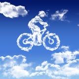 Wolken in de vorm van fiets Royalty-vrije Stock Afbeelding