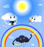 Wolken in der Liebe Lizenzfreies Stockbild