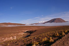 Wolken in der Wüste Stockbild