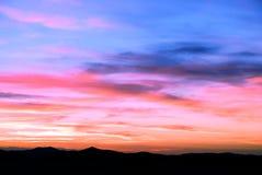 Wolken des Sonnenuntergangs Lizenzfreie Stockfotografie