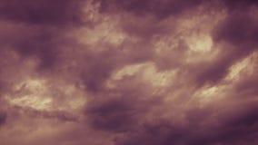 Wolken des starken Regens vor einem Sturm-Zeit-Versehen stock video