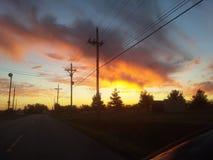 Wolken die in Carthago Missouri nemen royalty-vrije stock foto's