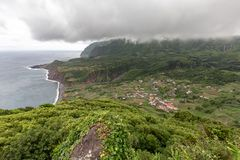Wolken die in de Azoren wervelen stock foto